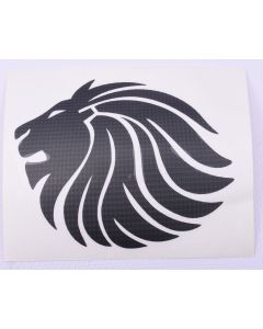98.072400 STICKER LION 9CM ZWART TRIBEL
